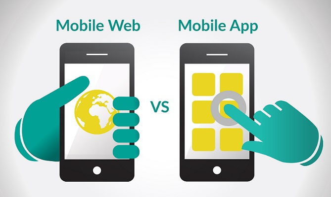 mobile app or responsive mobile website